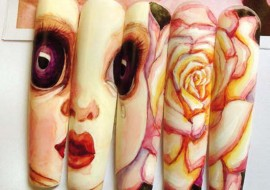 Nail art ispirata a Big Eyes: unghie dagli occhi grandi