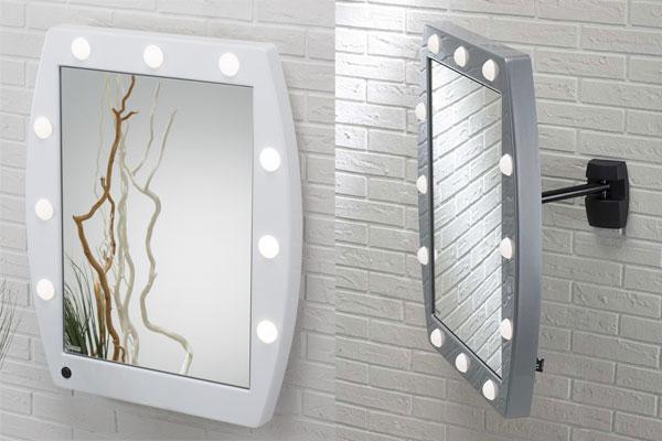 specchio postazione trucco luci