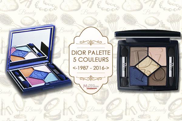 Dior 5 couleurs palette vintage