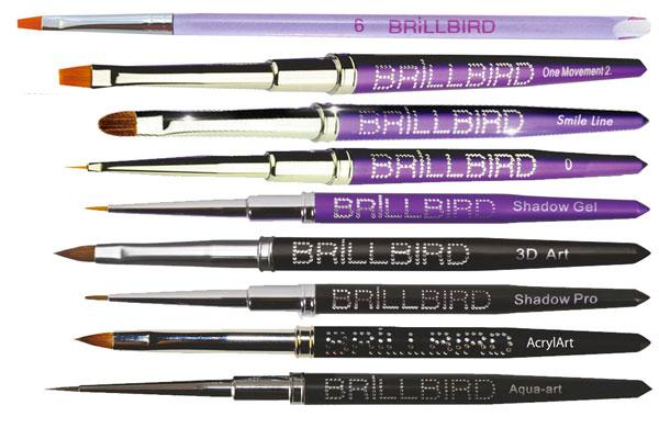 Brillbird pennelli nail artist onicotecniche