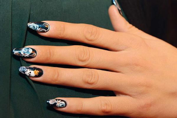 Unghie stile skull teschi nail art