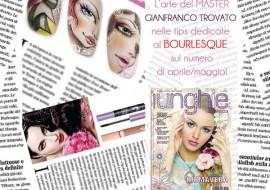 Trucco e unghie manga-burlesque: il Master Gianfranco Trovato omaggia Dita Von Teese