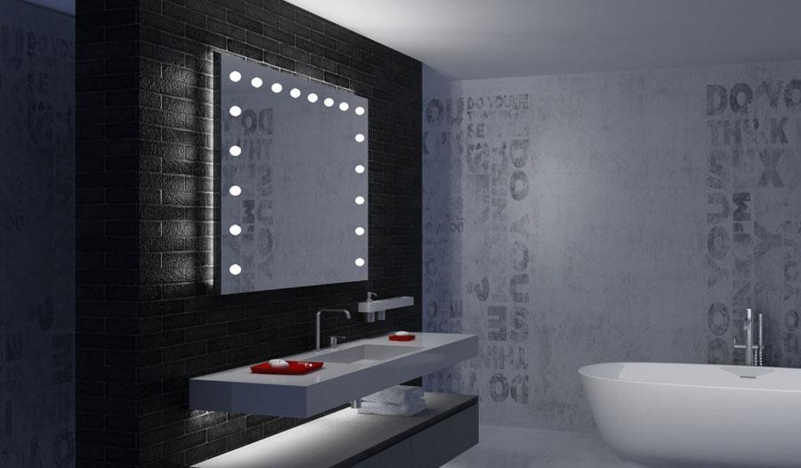 Specchi con le luci illuminato da parete retroilluminato unica by cantoni