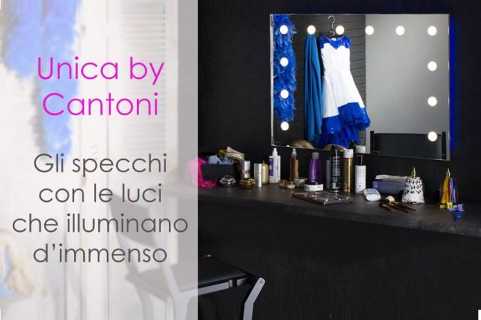 Linea Unica by Cantoni: lo specchio con le luci che t'illumina d'immenso