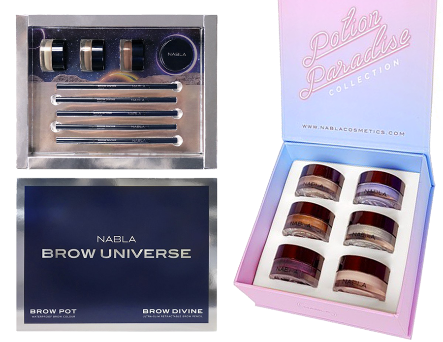 regali natale makeup artist 2016 nabla cosmetics special box potion paradise brow universe