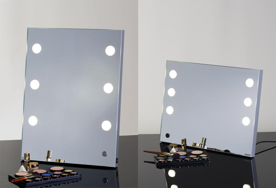 specchio trucco da tavolo con luci illuminato cantoni - regali natale per beauty lovers trucco 2016