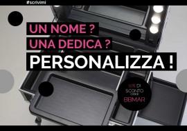 A Natale la valigia trucco #scrivila: 10% di sconto e personalizzazione gratuita!
