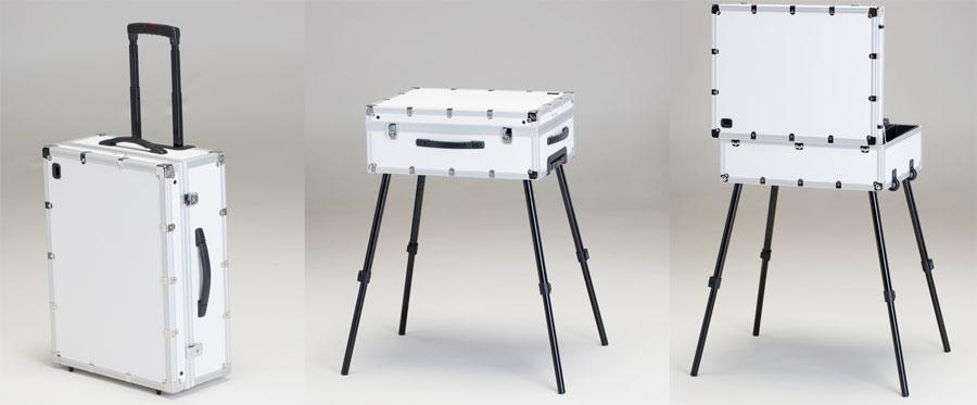 cantoni frozenwhite postazioni trucco luci gambe specchi sedie make up bianco colore truccatori makeupartist professionisti