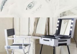 Cantoni FrozenWhite: postazioni trucco, specchi illuminati e sedie make up limited edition
