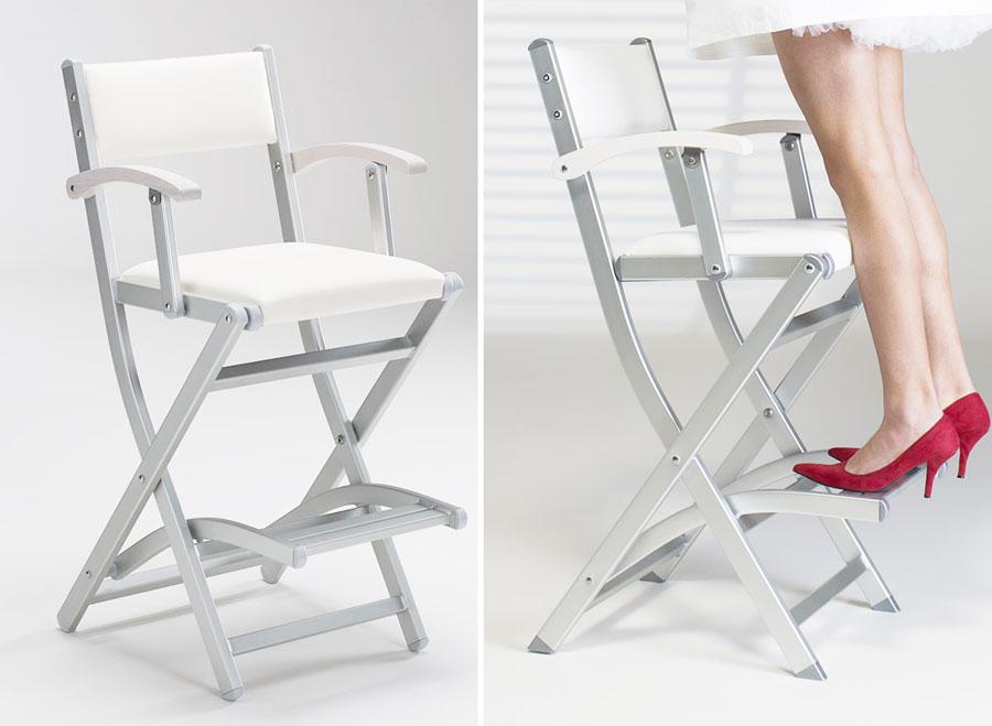cantoni frozenwhite sedia trucco make up antiribaltamento-postazioni trucco luci gambe specchi sedie make up bianco colore truccatori makeupartist professionisti