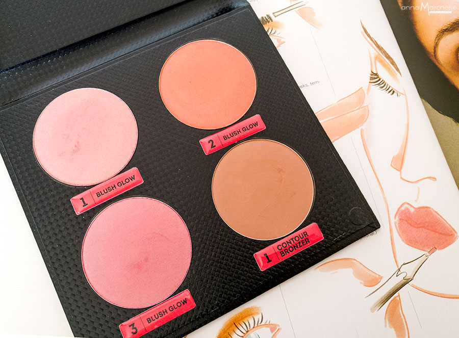 Blush Palette Glow Pin Up Collection by Antonio Priore terra contouring bronzer
