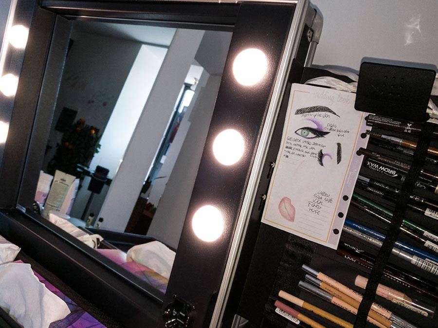 specchio luci truccatori professionisti face chart
