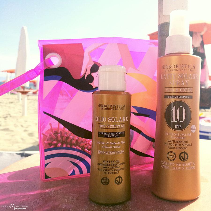 latte solare spray - olio solare vegetale erboristica athena's recensione