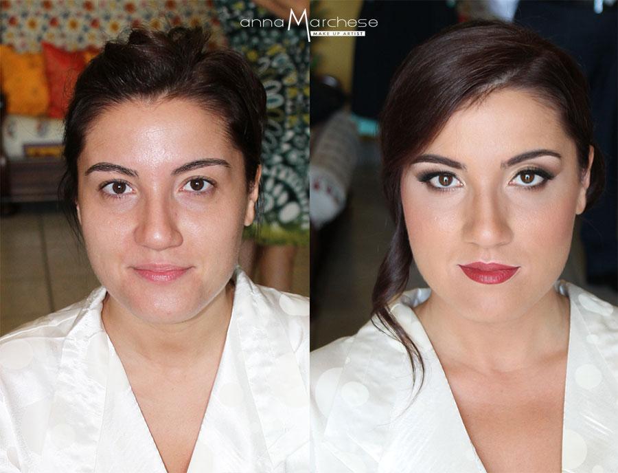 prima e dopo trucco-sposa-napoli-anna-marchese-truccatrice