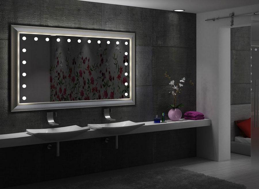 specchio con luci per bagno lusso hotel casa camerino