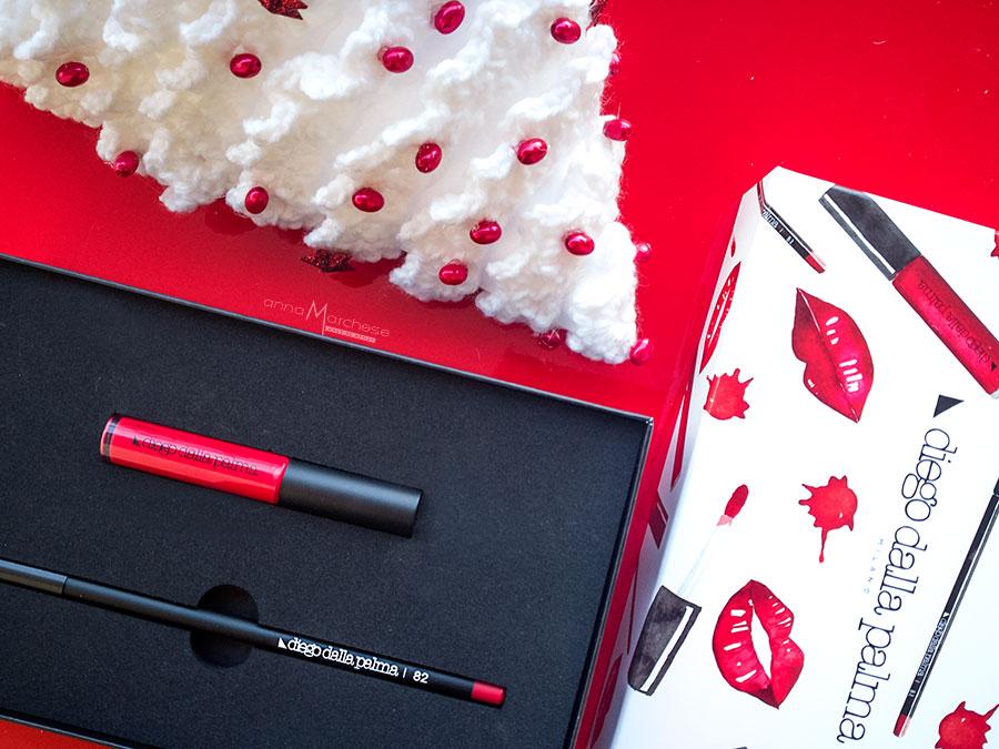 diego dalla palma make up kit labbra natale 2017 cofanetto trucco rossetto matita rossa