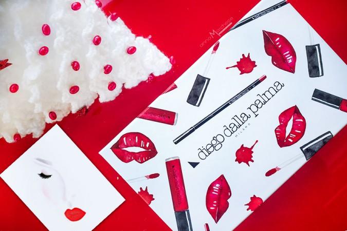 Diego Dalla Palma Natale 2017: kit make up labbra rosse e box da collezione