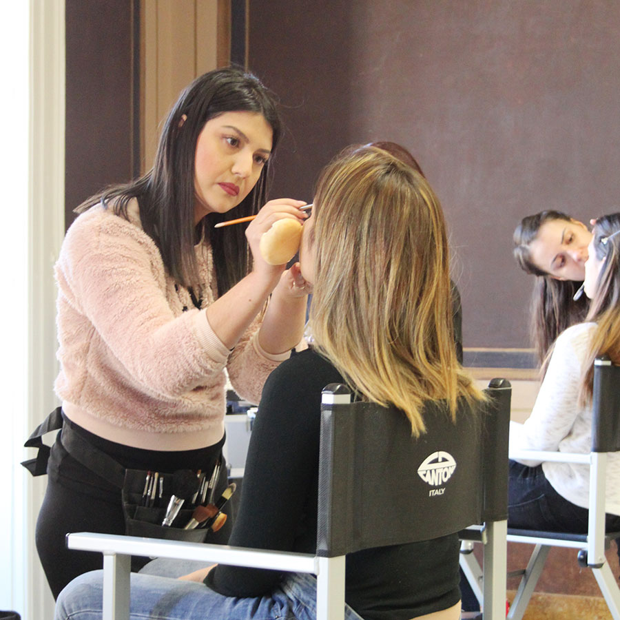 contest christmas party competition to be academy make up artist chiara graziano