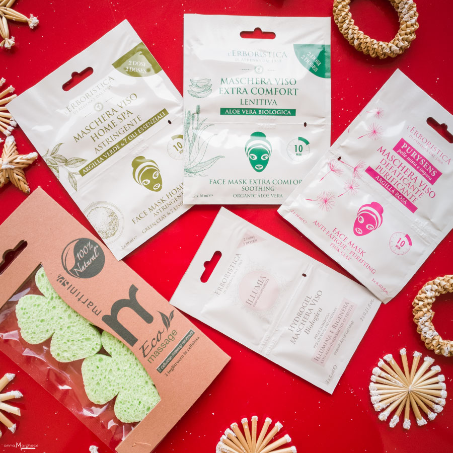 cofanetti athena's erboristica mask collection maschere viso