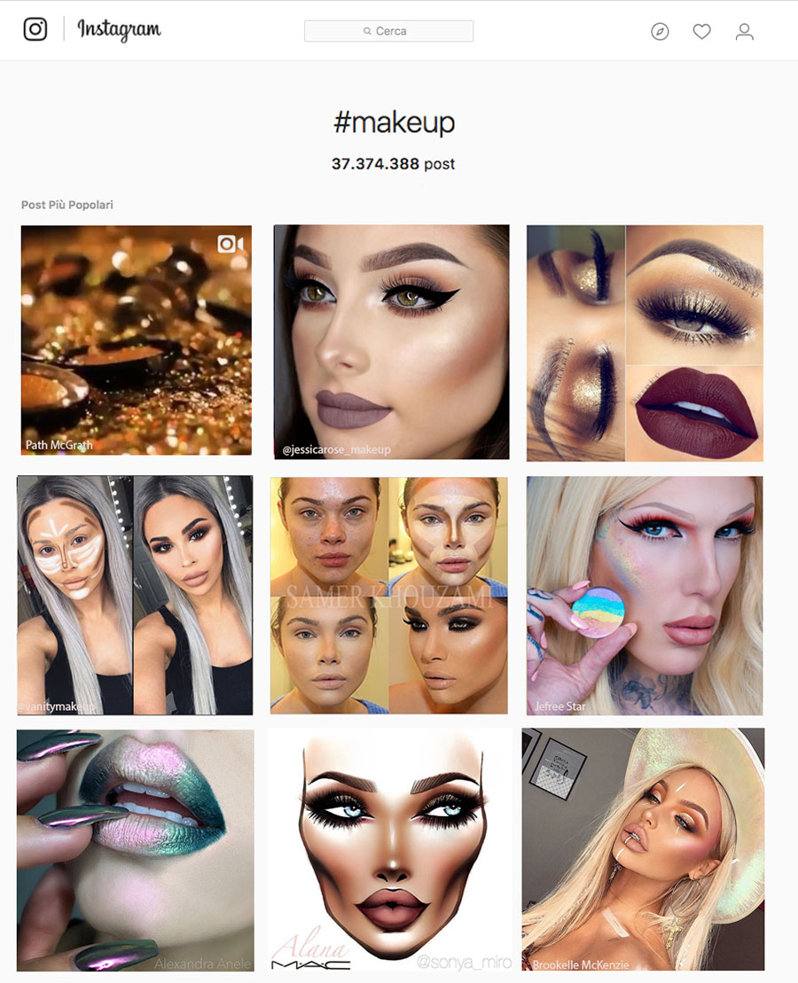 instagram look make up trend