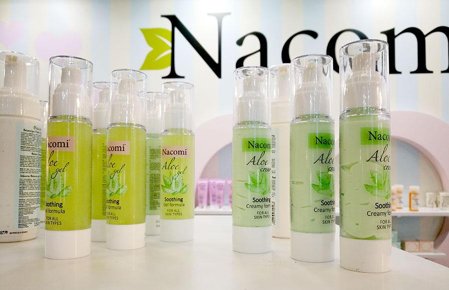 nacomi-aloe-cream-gel-skincare-cosmoprof-2018-1