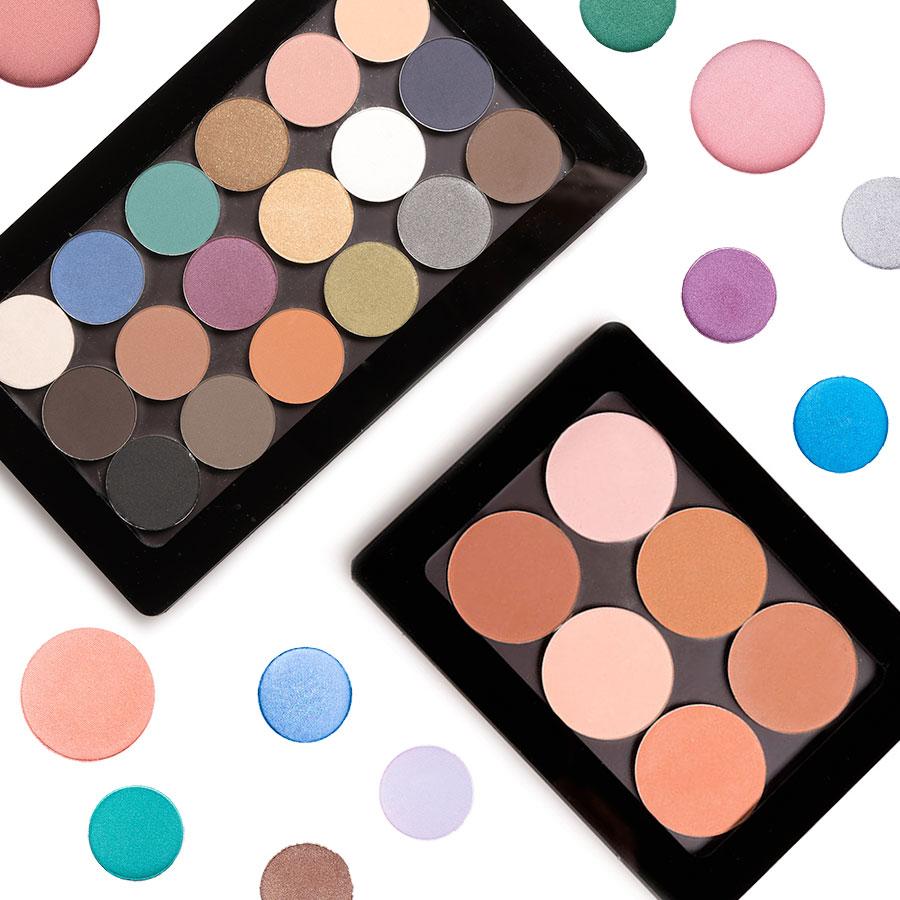 palette ombretti professionali - palette blush VOR Make Up cialde refill
