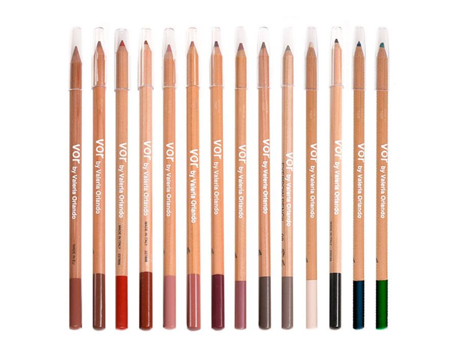 vor make up matite labbra occhi legno naturale 18 cm truccatori