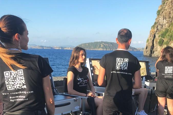 Ischia Fashion Week e il backstage VOR Make Up con Cantoni e Kiss
