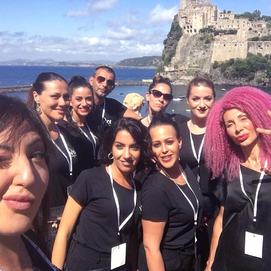 Il vor make up team di valeria orlando a Ischia Fashion Week 2018