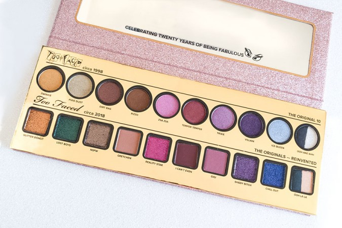 Too Faced Then and Now 20th Anniversary palette: review, foto e swatch