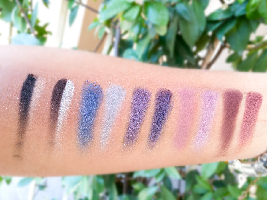 swatch colori ombretti review palette too faced anniversary then and now anniversario
