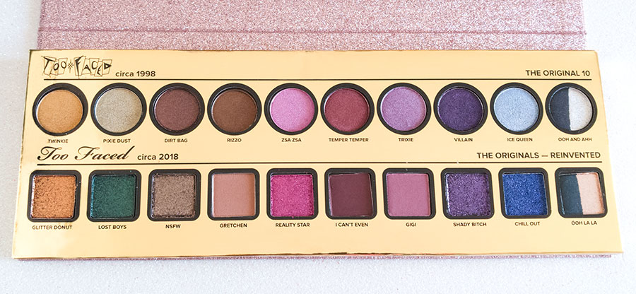 Too faced then and now 20th anniversary palette review swatch recensione opinione test