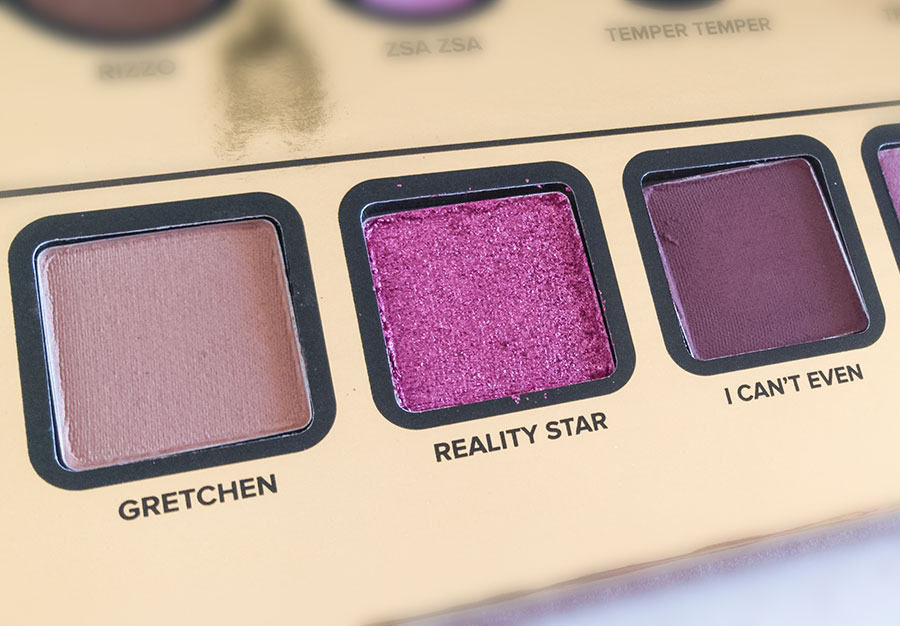 too-faced-then-and-now-palette-20 anni-years-anniversary-swatch-review gretchen reality star i can't even