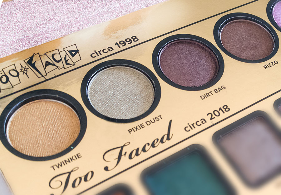 too-faced-then-and-now-palette--swatch twninkie pixie dust dirti bag rizzo
