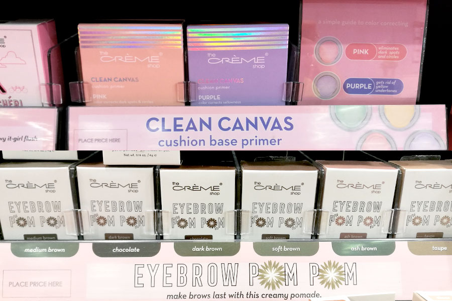 novita-makeup-cosmoprof-2019-clean-base-cushion-base-primer-the-cream-shop-eye-brow-pom-pom-review-recensioni