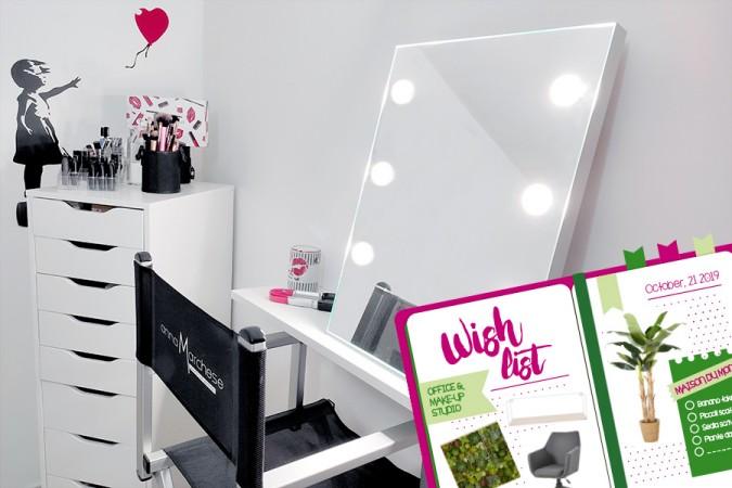Il mio studio make-up: gli essenziali per l'angolo trucco su una parete di 2 metri – Parte 1 [+ wish list]