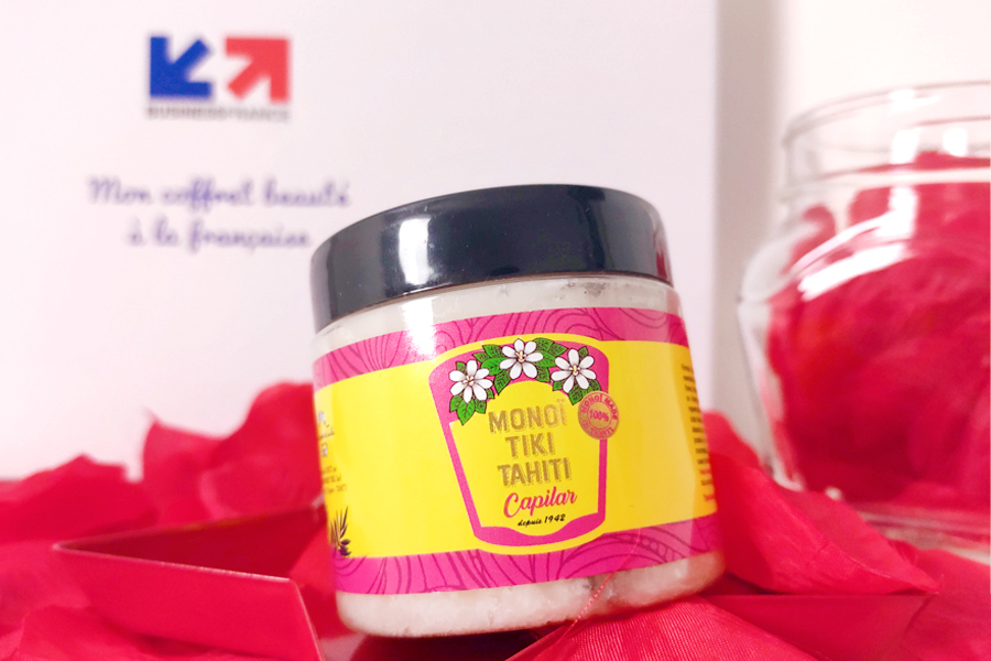 Monoi Tiki Tahiti oil in jar for hair cosmetics made in france looking for retail and distributors